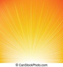 Sunburst Orange Background