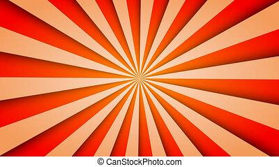 Sunburst pattern animation. vintage retro round background