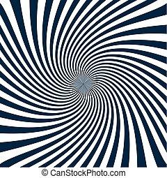 Sunburst pattern blue abstract illustration - Sunburst...