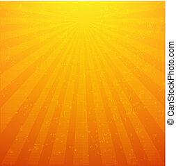 sunburst, plano de fondo, con, rayos