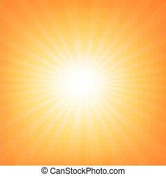 Sunburst Poster With Beams