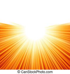 sunburst, raggi, di, luce sole, tenplate., eps, 8