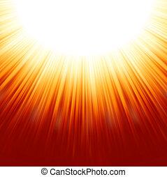 sunburst, raios, de, luz solar, tenplate., eps, 8