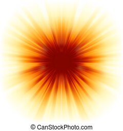 sunburst, raios, de, sunlight., eps, 8