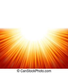 sunburst, rayos, de, luz del sol, tenplate., eps, 8