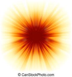 sunburst, rayos, de, sunlight., eps, 8