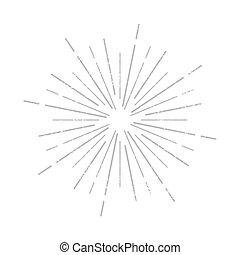 Sunburst rays icon sign. Grunge effect