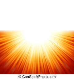 Sunburst rays of sunlight tenplate. EPS 8 vector file...