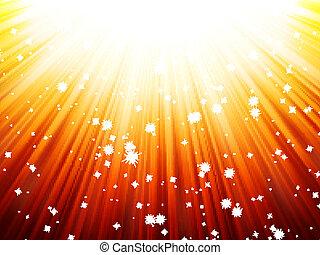 Sunburst rays of sunlight tenplate. EPS 10