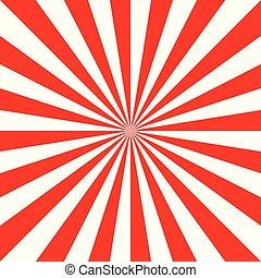 Sunburst red New Year pattern radial stripes.