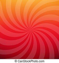 Sunburst Red Poster