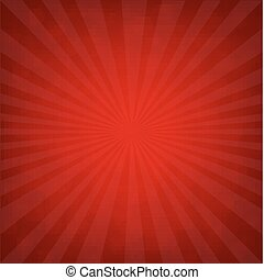 Sunburst Red Retro Poster