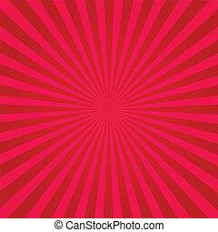 sunburst, rojo