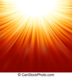 sunburst, stråle, av, solljus, tenplate., eps, 8