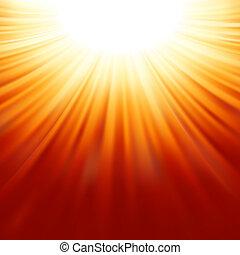 sunburst, strahlen, von, sonnenlicht, tenplate., eps, 8