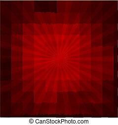 sunburst, struttura, fondo, rosso
