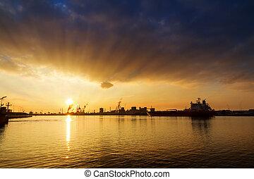 Sunburst sunset