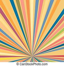 Sunburst Vector Background - Abstract Decorative Artistic ...