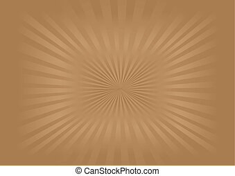 Sunburst - Vector Image - Illustration of brown sunburst ...