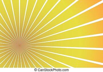sunburst, vektor, eps10, hintergrund, abbildung