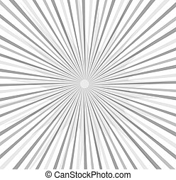 Sunburst Vintage Background - Abstract Retro Sunburst Vector...