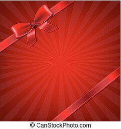 Sunburst With Red Ribbon And Bow