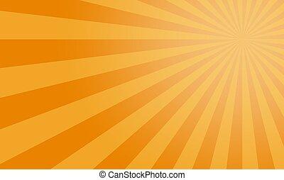 Sunburst yellow vector background, texture sun flat backdrop.