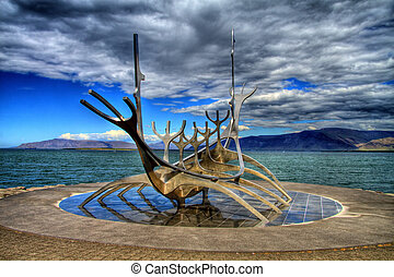 suncraft, island, hdr, reykjavik, solfar