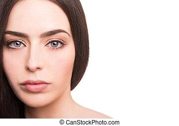sund kvinde, unge, smukt ansigt
