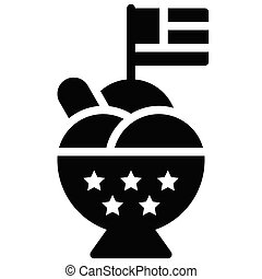 Sundae vector, United state independence day related icon