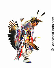Sundancer - digital painting of a native american indian...