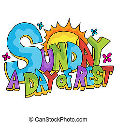 An image of Sunday - a day of rest text.