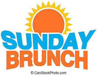 Sunday Brunch - An image of a sunday brunch message.