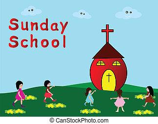 Sunday School - Children go to Sunday School -Christian...