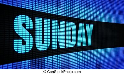 sunday Side Text Scrolling LED Wall Pannel Display Sign...