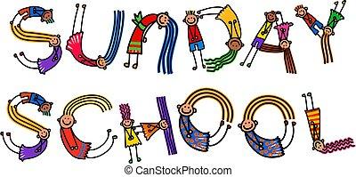 sunday tanít, gyerekek, cím, szöveg