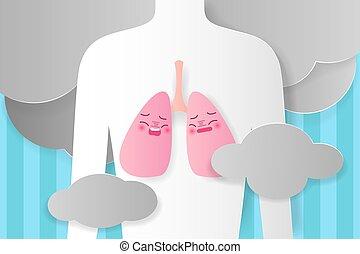 sunde, begreb, lunge, folk