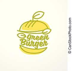 sunde, burger, lavede, af, organisk, grønne, ingredienser