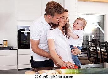 sunde, familie, hjem hos