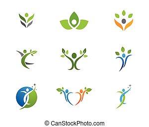 sunde, logo, liv