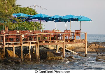sundeck in tropical island
