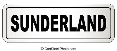 Sunderland City Nameplate - The city of Sunderland nameplate...