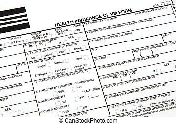 sundhed forsikring, claim, form