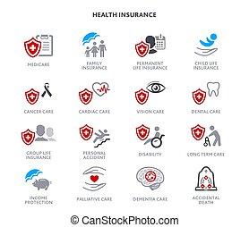 sundhed forsikring, iconerne