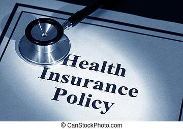 sundhed forsikring, politik