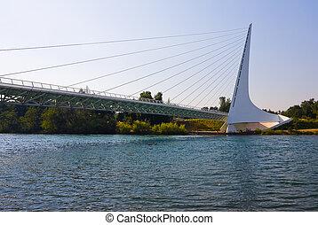 Sundial Bridge - Famous Sundial Bridge in Redding California...