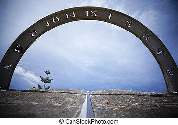 Sundial - The sundial in Geraldton, Western Australia.