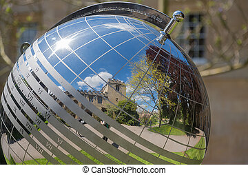 Sundial in the gardens of Balliol College in Oxford, London