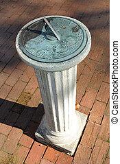 Sundial - a classical sundial on a singluar column