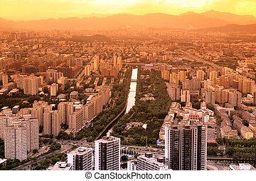 sundown in Beijing, China